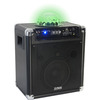 PARTY MOBIELE STAND-ALONE LUIDSPREKERBOX MET DRAADLOZE MICROFOON, RGB LED ASTRO LICHTEFFECT?(PARTY-KUBE300VHF)