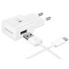 SAMSUNG WALLCHARGER FASTCHARGE + USB C WHITE