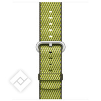APPLE 38MM DARK OLIVE CHECK WOVEN NYLON