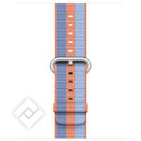 APPLE 38MM ORANGE STRIPE WOVEN NYLON