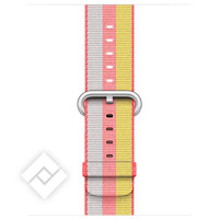 APPLE 38MM RED STRIPE WOVEN NYLON