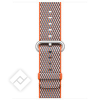 APPLE 38MM SPICY ORANGE CHECK WOVEN NYLON