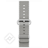 APPLE 38MM WHITE CHECK WOVEN NYLON