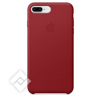 APPLE LEATHER COVER RED IPHONE 7 PLUS, 8 PLUS