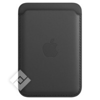 APPLE IPHONE LEATHER WALLET WITH MAGSAFE - SADDLE BLACK