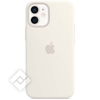 APPLE 12 MINI SILICONE CASE WITH MAGSAFE - WHITE