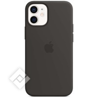 APPLE 12 MINI SILICONE CASE WITH MAGSAFE - BLACK