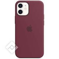 APPLE 12 MINI SILICONE CASE WITH MAGSAFE - PLUM