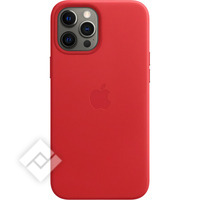 APPLE 12 PRO MAX LEATHER CASE WITH MAGSAFE (PRODUCT) RED