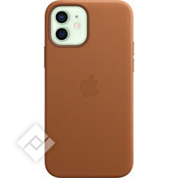 APPLE IPHONE 12/12 PRO LEATHER CASE WITH MAGSAFE SADDLE BROWN