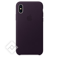 APPLE IPHONE X LEATHER CASE - DARK AUBERGINE