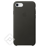 APPLE LEATHER COVER CHARCOAL GREY IPHONE 7,8