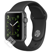 APPLE WATCH 2015 38MM GREY ALUMINIUM SPORT BLACK