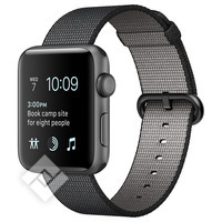 APPLE WATCH SERIES 2 2016 38MM SPACE GREY ALUMINIUM CASE BLACK WOVER NYLON BAND