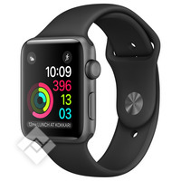 APPLE WATCH SERIES 2 2016 42MM SPACE GREY ALUMINIUM CASE BLACK SPORT BAND