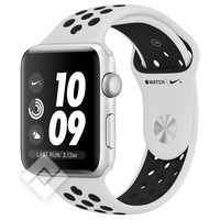 APPLE WATCH NIKE+ 2017 GPS 38MM SILVER ALUMINUM CASE PURE PLATINUM BLACK SPORT BAND