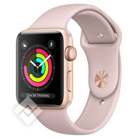 APPLE WATCH SERIES 3 2017 GPS 38MM GOLD ALUMINUM CASE PINK SAND SPORT BAND