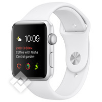 APPLE WATCH SERIES 1 2016 38MM SILVER ALUMINIUM CASE WHITE SPORT BAND