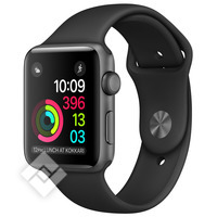 APPLE WATCH SERIES 1 2016 38MM SPACE GREY ALUMINIUM CASE BLACK SPORT BAND