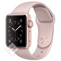 APPLE WATCH SERIES 2 2016 38MM ROSE GOLD ALUMINIUM CASE PINK SAND SPORT BAND