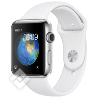 APPLE WATCH SERIES 2 2016 38MM STAINLESS STEEL CASE WHITE SPORT BAND