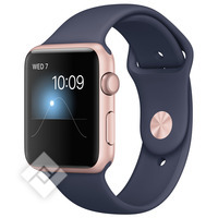APPLE WATCH SERIES 2 2016 ROSE GOLD ALUMINIUM CASE MIDNIGHT BLUE SPORT BAND