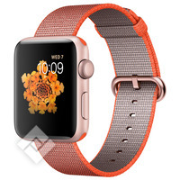 APPLE WATCH SERIES 2 2016 ROSE GOLD ALUMINIUM CASE ORANGE/ANTHRACITE WOVEN NYLON BAND