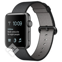 APPLE WATCH SERIES 2 2016 42MM SPACE GREY ALUMINIUM CASE BLACK WOVEN NYLON BAND