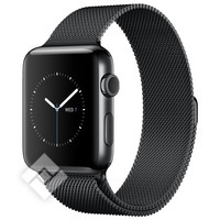 APPLE WATCH SERIES 2 2016 42MM SPACE BLACK STAINLESS STEEL CASE SPACE BLACK MILANESE LOOP