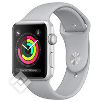 APPLE WATCH SERIES 3 2017 GPS 38MM SILVER ALUMINUM CASE FOG SPORT BAND