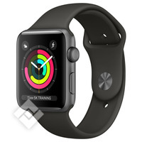 APPLE WATCH SERIES 3 2017 GPS 42MM SPACE GRAY ALUMINUM CASE GRAY SPORT BAND