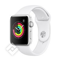 APPLE WATCH SERIES 3 2018 GPS 42MM SILVER ALUMINUM CASE WHITE SPORT BAND