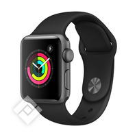 APPLE WATCH SERIES 3 2018 GPS 38MM SPACE GRAY ALUMINUM CASE BLACK SPORT BAND