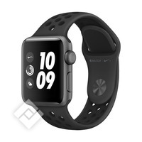 APPLE WATCH SERIES 3 GPS NIKE, 38 MM SPACE GREY ALUMINIUM CASE WITH ANTHRACITE/BLACK NIKE SPORT BAND