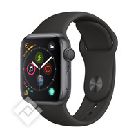 APPLE WATCH SERIES 4 GPS, 40MM SPACE GRAY ALUMINIUM CASE WITH BLACK SPORT BAND