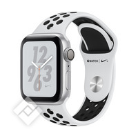 APPLE WATCH NIKE+ SERIES 4 GPS, 40MM SILVER ALUMINIUM CASE WITH PURE PLATINIUM/BLACK SPORT BAND