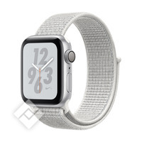 APPLE WATCH NIKE+ SERIES 4 GPS, 40MM SILVER ALUMINIUM CASE WITH WHITE SPORT LOOP