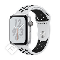 APPLE WATCH NIKE+ SERIES 4 GPS, 44MM SILVER ALUMINIUM CASE WITH PURE PLATINIUM/BLACK SPORT BAND