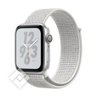 APPLE WATCH NIKE+ SERIES 4 GPS, 44MM SILVER ALUMINIUM CASE WITH WHITE SPORT LOOP
