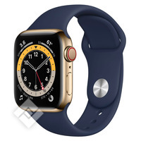 APPLE WATCH SERIES 6 GPS+ CELLULAR 40MM GOLD STAUINLESS STEEL CASE WITH DEEP NAVY SPORT BAND