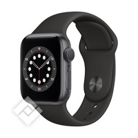 APPLE WATCH SERIES 6 (2020) GPS 40MM SPACE GREY ALU, BLACK SPORT BAND (MG133NF/A)