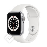 APPLE WATCH SERIES 6 (2020) GPS 40MM SILVER ALU, WHITE SPORT BAND (M00D3NF/A)