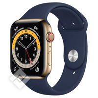 APPLE WATCH SERIES 6 GPS+ CELLULAR 44MM GOLD STAINLESS STEEL CASE WITH DEEP NAVY SPORT BAND
