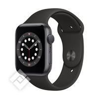 APPLE WATCH SERIES 6 (2020) GPS 44MM SPACE GREY ALU, BLACK SPORT BAND (M00H3NF/A)
