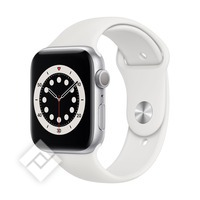 APPLE WATCH SERIES 6 (2020) GPS 44MM SILVER ALU, WHITE SPORT BAND (M00D3NF/A)