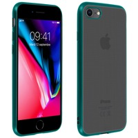 Avizar Coque iPhone SE 2020 / 8 / 7 Silicone gel Contour chromé Compatible QI Vert