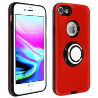 Avizar Coque Apple iPhone SE 2020/8/7 Antichoc Bague Maintien Support Vidéo Rouge