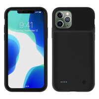 Avizar Coque iPhone 11 Pro Protection Rigide 2 en 1 Batterie 3500mAh Soft-touch Noir