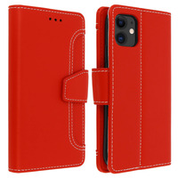 Avizar Housse Apple iPhone 11 Étui Folio Portefeuille Fonction Support rouge
