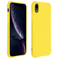 AVIZAR COQUE APPLE IPHONE XR SILICONE FLEXIBLE BUMPER RÉSISTANT - JAUNE